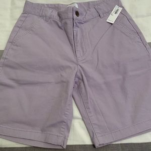 NWT Old Navy, Boys lavender twill shorts